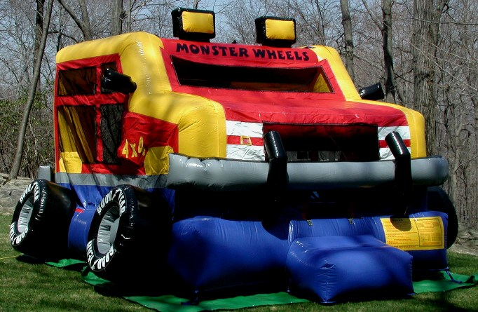 Rent A Truck >> Monster Wheels Bounce House | Inflatable Bounce House Rentals CT