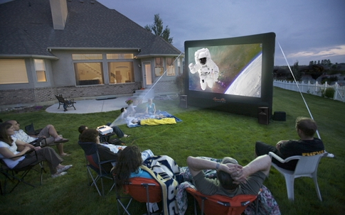 inflatable movie screen outdoor theater rental ct backyard movies