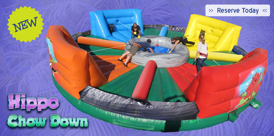 hippo chow down - Inflatable Bounce House
