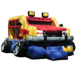 Monster Wheels Bounce House
