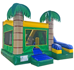 Tropical 5 in 1 Bounce & Slide Combo (Dry)